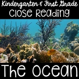 Ocean Animals Close Reading Kindergarten & First Grade
