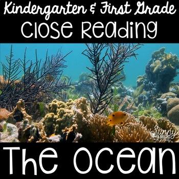 Ocean Animals- Close Reading- Kindergarten & First Grade