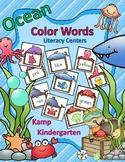 Ocean Animals Color Words Literacy Centers