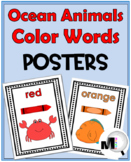 Color Word Posters - Ocean Theme Classroom Decor