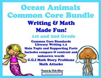 Ocean Animals Common Core Bundle Writing & Math