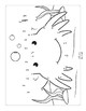 Ocean Animals Connect the Dots - Dot to Dot Alphabet Worksheets