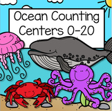 Ocean Animals Counting Centers 0-20 With 10-frames for Preschool & Kindergarten