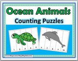 Ocean Theme Animals Counting Puzzles Numbers 1-10