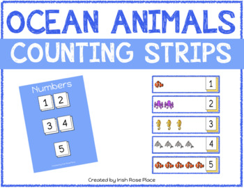 Ocean Animals Counting Strips
