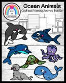 Ocean Animals Craft Toppers, Writing Activities Bundle for