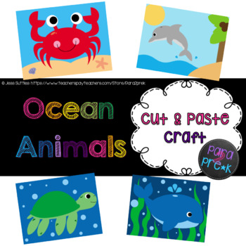 Ocean Animals Cut and Paste Craft Bundle