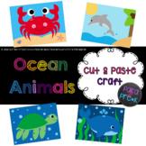 Ocean Animals Cut and Paste Craft Bundle