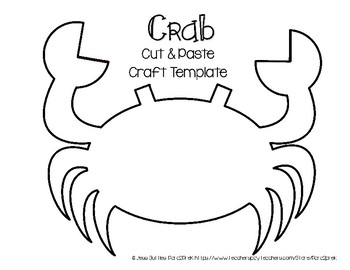 ocean animals cut and paste craft template crab by para2prek tpt