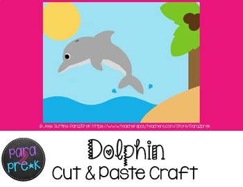 Ocean Animals Cut and Paste Craft Template - Dolphin