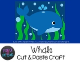 Ocean Animals Cut and Paste Craft Template - Whale