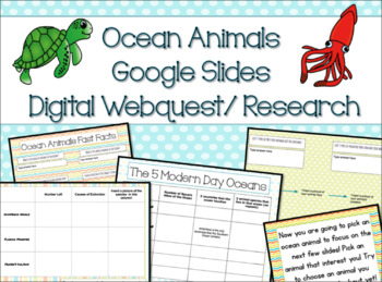 Ocean Animals Digital Webquest/Research- FUN Back to School Project!