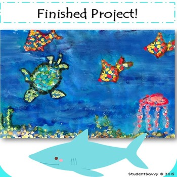 Ocean Animals Mosaic Eggshell Art Project!