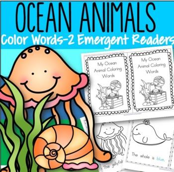 Ocean Animals Color Words Emergent Reader