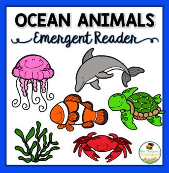 Ocean Animals Emergent Reader & Printable Coloring Book