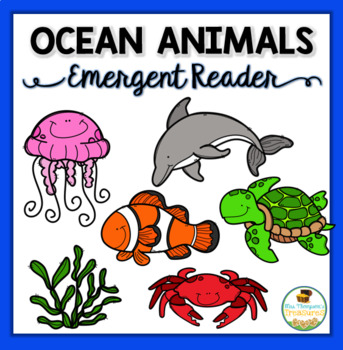 photograph relating to Printable Ocean Animals titled Ocean Pets Emergent Reader Printable Coloring Guide