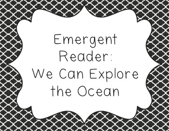 Ocean Animals: Emergent Reader for Lower Elementary