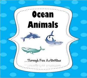 Ocean Animals Essential Vocabulary Through Fun Activities