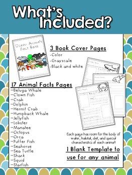 Ocean Animals Fact Book