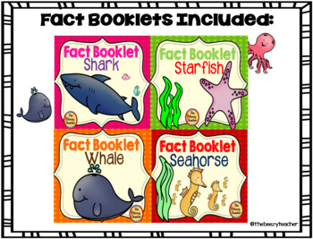Ocean Animals Fact Booklet Bundle