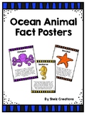 Ocean Animals Fact Posters