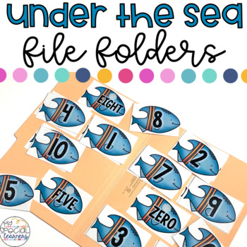 Ocean Animals File Folder Activities for Special Education