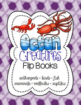 Ocean Animals Flip Books, Interactive Science Journal: Exp
