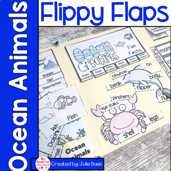 Ocean Animals Activities Interactive Notebook Lapbook