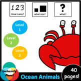 Ocean Animals HOW MANY, WHAT SIZE, WHAT? Adapted book Leve