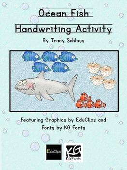 Ocean Fish Handwriting