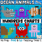Ocean Animals Hundreds Chart Hidden Picture