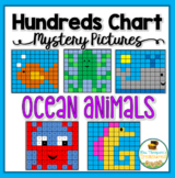Ocean Animals Hundreds Chart Mystery Pictures