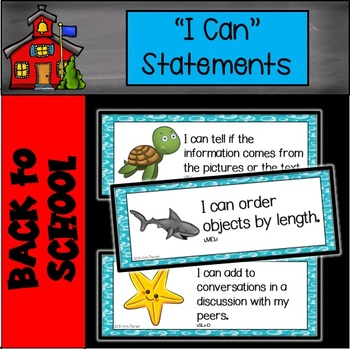 """Ocean Animals """"I Can"""" Statements"""