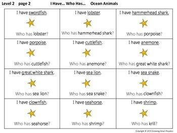 Ocean Animals: Game and Writing Fun