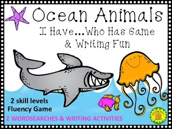 Ocean Animals: Game and Writing Fun