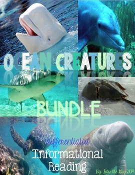 Ocean Animals Informational Texts & Questions {Differentiated}