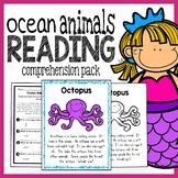 Ocean Animals Kindergarten Reading Comprehension Pack
