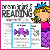 Ocean Animals Kindergarten Reading Comprehension Pack