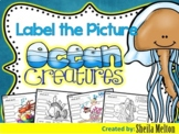 Ocean Animals Label the Picture