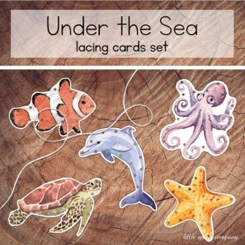 Ocean Animals Lacing Card Set