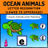 Ocean Animals Letter Recognition Boom Cards - Lower to Uppercase Letters