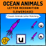 Ocean Animals Letter Recognition Boom Cards - Lowercase Letters