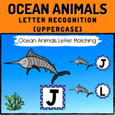 Ocean Animals Letter Recognition Boom Cards - Uppercase Letters