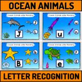 Ocean Animals Letter Recognition For Preschool Boom Cards Bundle
