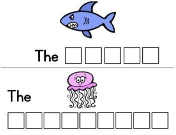 Ocean Animals Letter Tile Cards!