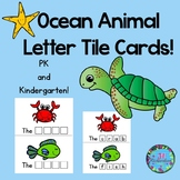 Ocean Animals Letter Tile Cards!