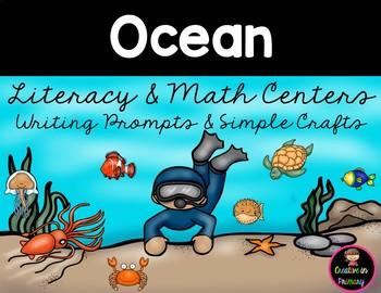 Ocean Animals Literacy and Math Centers Kindergarten