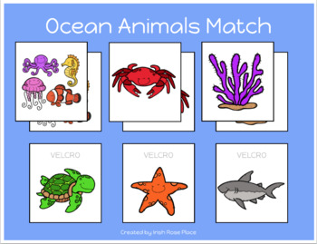 Ocean Animals Match Sheets