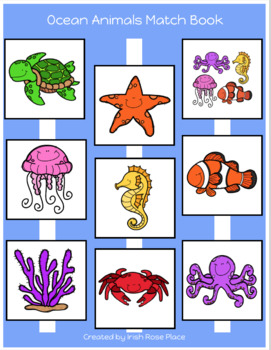 Ocean Animals Matching Book (Adapted Book)