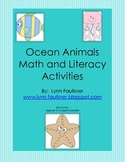 Ocean Animals Math and Literacy Activities